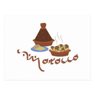 Tagine Marruecos Tarjeta Postal