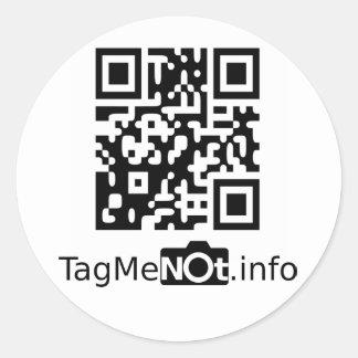TagMeNot Pegatina Redonda