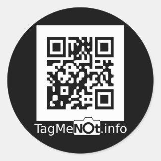 TagMeNotW-2000 Pegatina Redonda