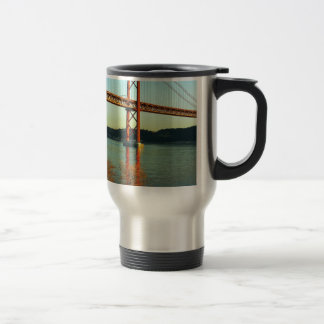 Tagus bridge, Lisbon, Portugal Travel Mug