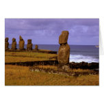 Tahai Platform Moai Statue Abstracts Easter Cards