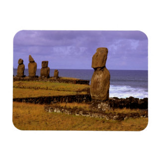 Tahai Platform Moai Statue Abstracts Easter Magnet