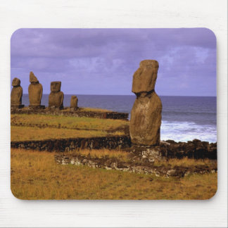 Tahai Platform Moai Statue Abstracts Easter Mouse Pad