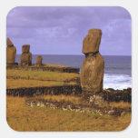Tahai Platform Moai Statue Abstracts Easter Sticker
