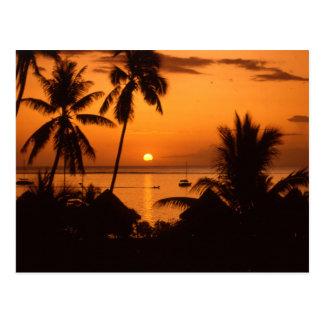 tahiiti sunset postcard