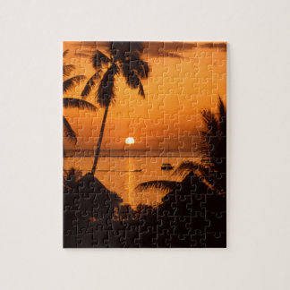 tahiiti sunset puzzle