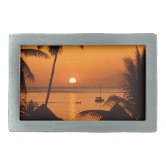 tahiiti sunset rectangular belt buckles