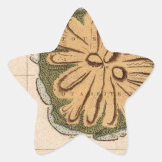 Tahiti 1769 star sticker