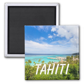 Tahiti 2 Inch Square Magnet