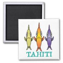 Tahiti 3-Fishes Magnet