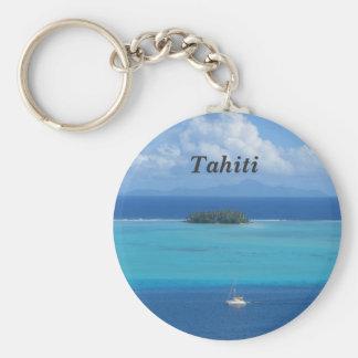 Tahiti Basic Round Button Keychain