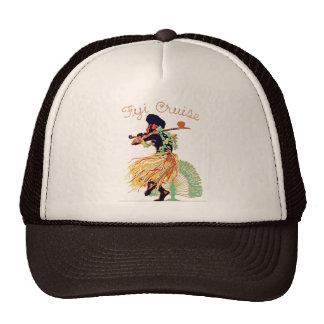 Tahiti Fiji Cruise Fiji Dance Meke Vintage Fashion Trucker Hat