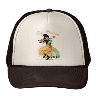 Tahiti Fiji Cruise Personalized Travel Souvenir Trucker Hat