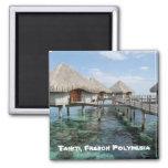 Tahiti, French Polynesia 2 Inch Square Magnet