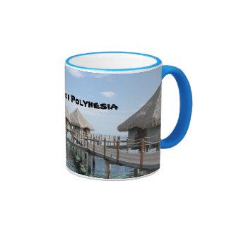 Tahiti, French Polynesia Ringer Coffee Mug