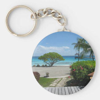 Tahiti Getaway Basic Round Button Keychain