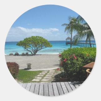 Tahiti Getaway Classic Round Sticker