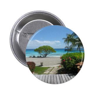 Tahiti Getaway Pinback Button