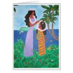 Tahiti Girls Greeting Card