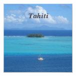 Tahití Invitación 13,3 Cm X 13,3cm