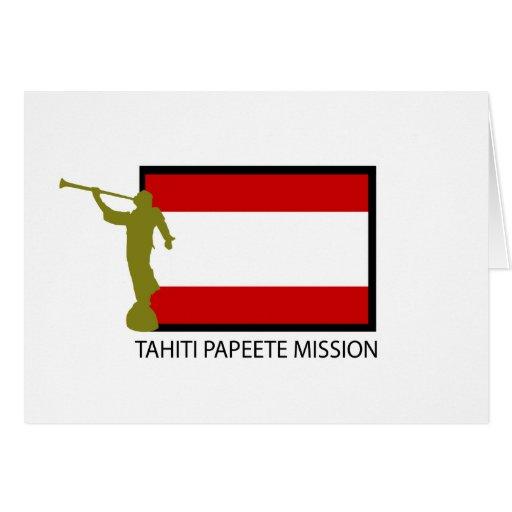 TAHITI PAPEETE MISSION LDS CTR CARDS