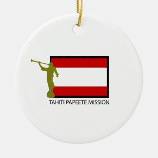 TAHITI PAPEETE MISSION LDS CTR CERAMIC ORNAMENT
