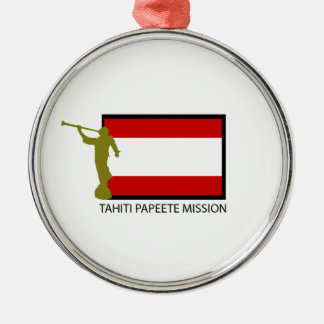 TAHITI PAPEETE MISSION LDS CTR METAL ORNAMENT