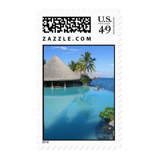 Tahiti Paradise Stamp