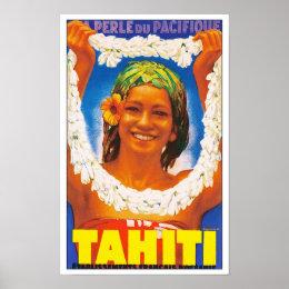 Tahiti ~ Perle du Pacifique Poster