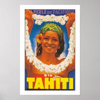 "Tahiti ""Perle du pacifique"" Poster"