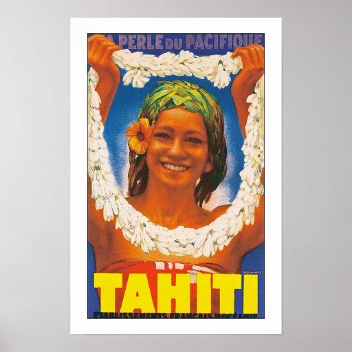 """Tahití """"Perle du pacifique """" Póster"""