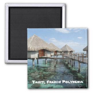 Tahití, Polinesia francesa Imán Cuadrado