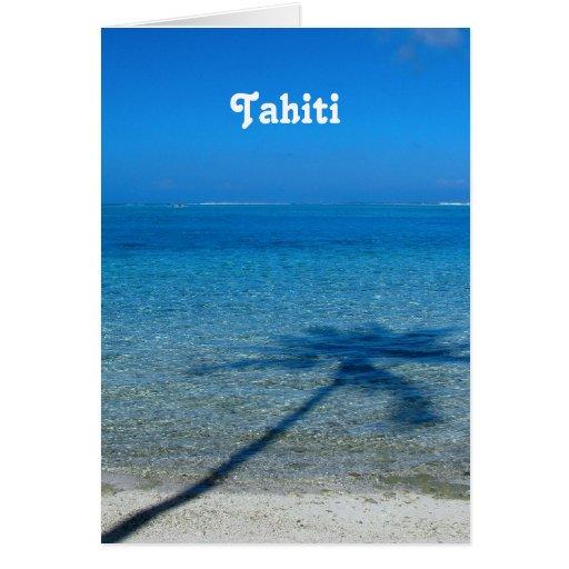 Tahiti Reflections Card