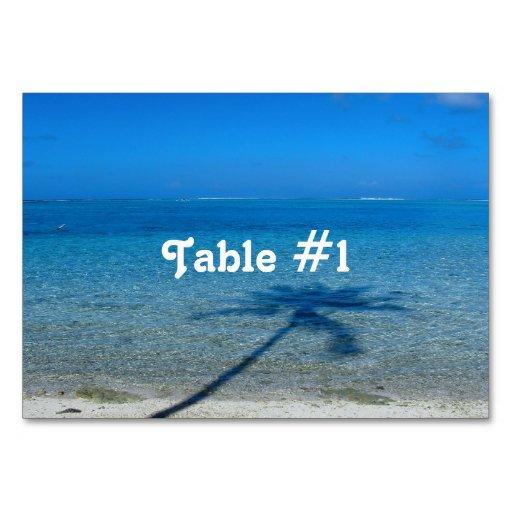 Tahiti Reflections Table Card