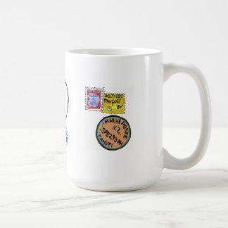 tahiti stamps coffee mug