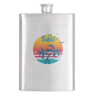 Tahiti, summer retro vintage flask