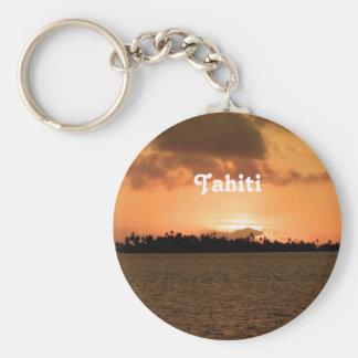 Tahiti Sunset Basic Round Button Keychain