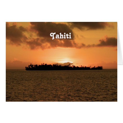 Tahiti Sunset Greeting Card