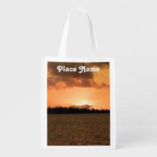 Tahiti Sunset Grocery Bags