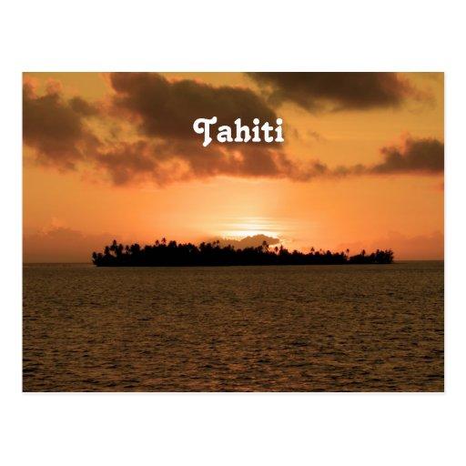 Tahiti Sunset Post Card