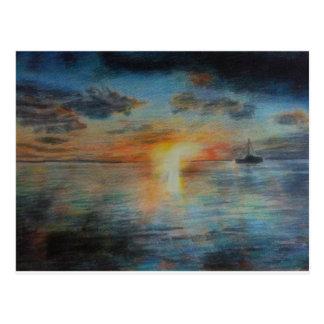 Tahiti Sunset Postcards