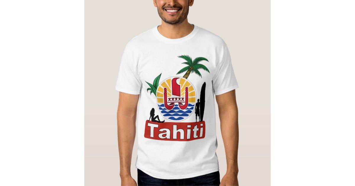 Tahiti Surf Design T Shirt Zazzle