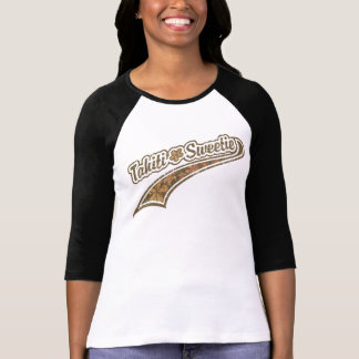 Tahiti Sweetie Baseball Lettering T Shirts