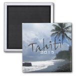 Tahiti Travel Souvenir Fridge Magnet Change Year