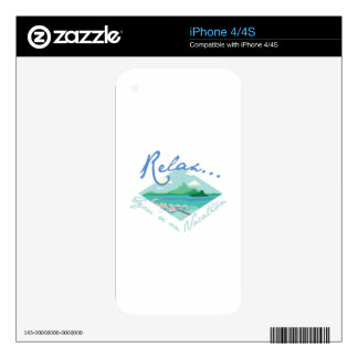 Tahiti Vacation iPhone 4 Skins