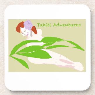 Tahiti Woman Drink Coaster