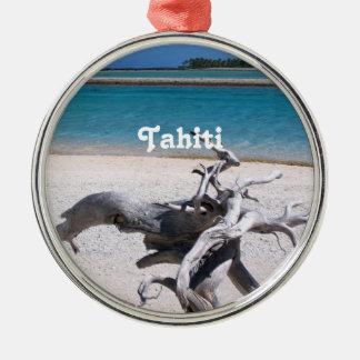 Tahitian Beach Metal Ornament