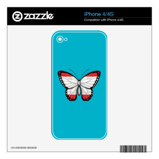 Tahitian Butterfly Flag Skin For iPhone 4S
