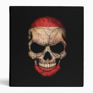 Tahitian Flag Skull on Black Vinyl Binder