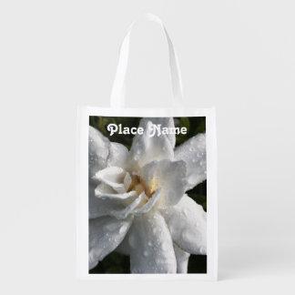 Tahitian Gardenia Grocery Bags